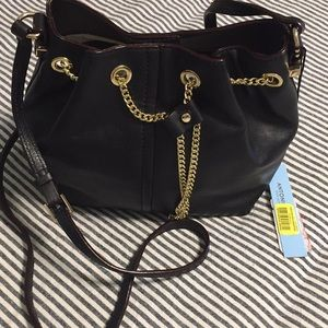 Antonio Melani Black Bucket Bag